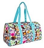 NGIL Owl Quilted Duffle Bag (Teal Blue)