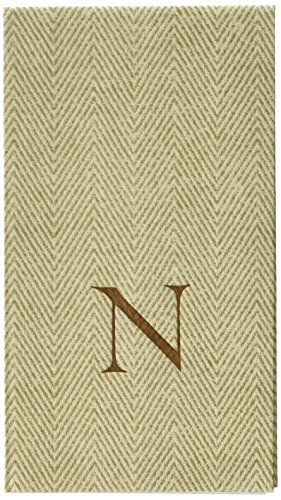 entertaining-with-caspari-jute-herringbone-paper-linen-guest-towels-monogram-initial-n-pack-of-24