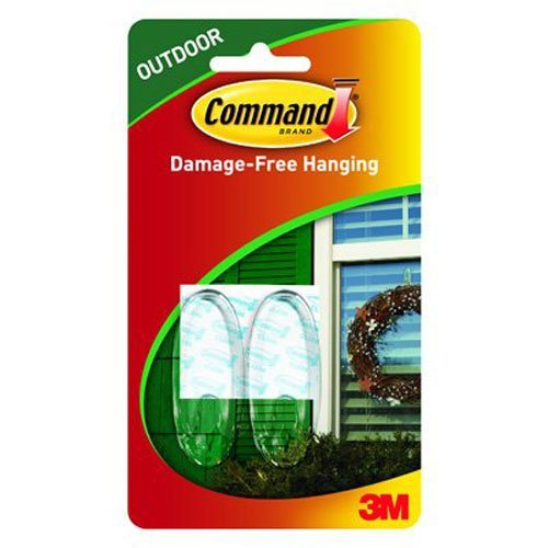 Command Outdoor Window Hooks Q6BG1, Medium, Clear, 6-Hooks