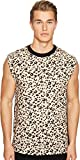 McQ Men's Sleeveless Leopard Tee Leopard Tank Top