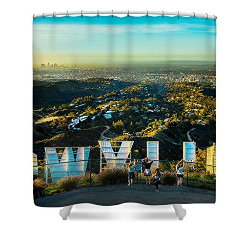 Pixels Shower Curtain (74'' x 71'') ''Hollywood Dreaming''
