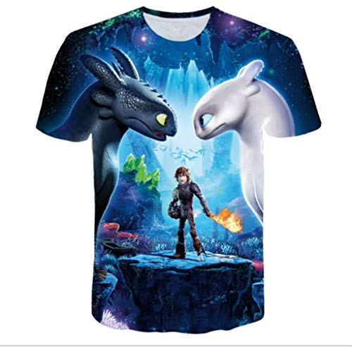 How to Train Your Dragon The Hidden World Toothless Light Fury T Shirt M-5XL (S) ()