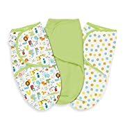 Summer Infant 3 Pack SwaddleMe Adjustable Infant Wrap, Small, ABC Animals