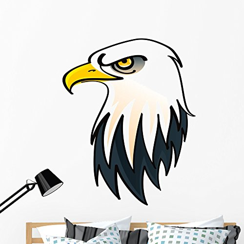Wallmonkeys Head Bald Eagle Symbol Wall Decal Peel and Stick Graphic (48 in H x 48 in W) -