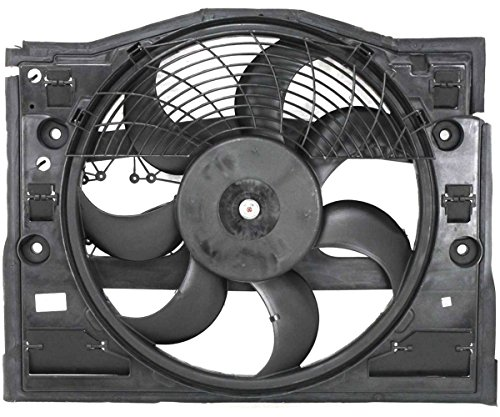 TOPAZ 64546988913 Auxiliary Radiator Cooling Fan Assembly for BMW 3 Series E46 320Ci 302i 323i 325i 325xi 328i ()
