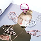 VaThaStore 6pcs Ice Cream Paper Clips Candy Color