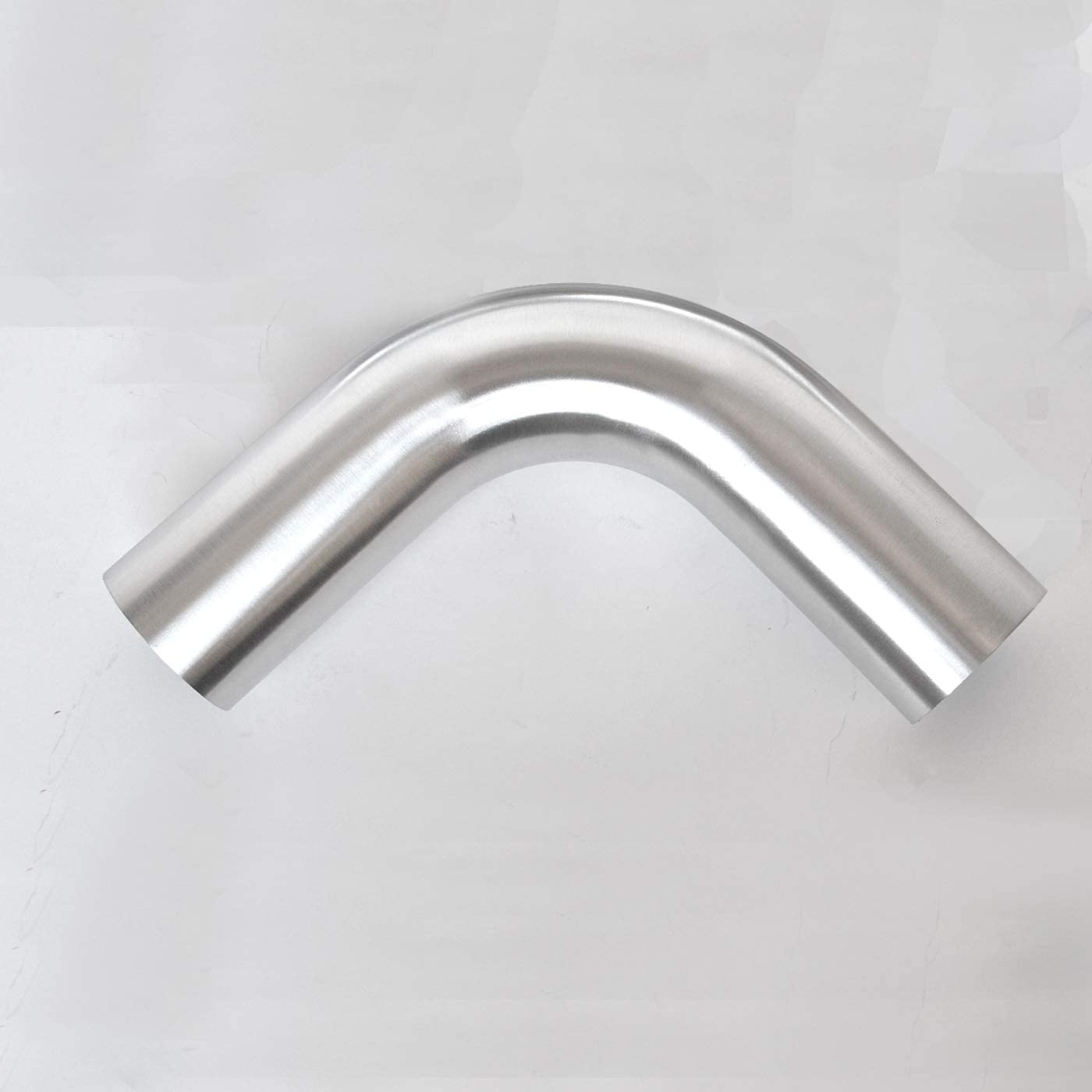"OD 2.5""(63mm), Leg Length 4"" (100mm), 90 Degree Bend Elbow 2.5 Inch 6061 Aluminum Pipe Tube Intercooler Pipe High Class Brushed Treatment Tight Radius Air Intake Tube"