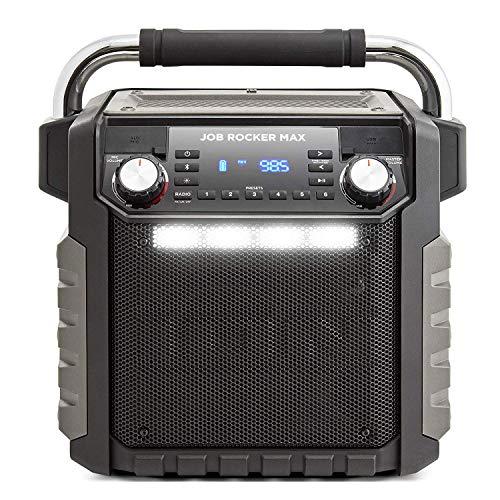 Ion Audio Job Rocker Max Bluetooth Speaker, Black (Renewed) (Tailgate Radio)