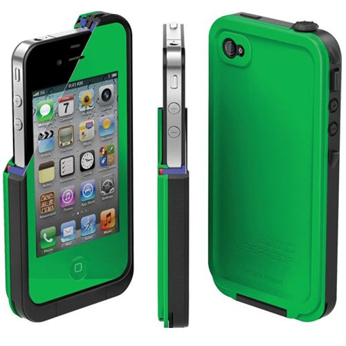 the best attitude c4869 2b94c LifeProof FRE iPhone 4/4s Waterproof Case - Retail Packaging - GREEN/BLACK  (Discontinued by Manufacturer)