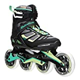 Rollerblade 16/17 Macroblade 100 High Performance Fitness/Workout Skate, Black/Light Green, US Size 8