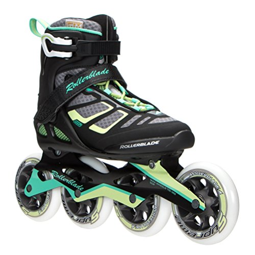 Rollerblade 16/17 Macroblade 100 High Performance Fitness/Workout Skate, Black/Light Green, 9 (M) US -