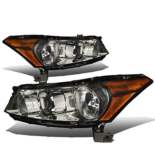 DNA Motoring Smoked amber HL-OH-HA084D-SM-AM-T2 Headlight Assembly (Driver & Passenger - Sedan Smoked Headlight Kit