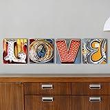 LOVE Sign, Neon Letter Art, Vegas Neon Letter Photos, 20x20 Mounted Prints