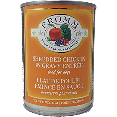 Fromm Four-Star Canned Dog Food - Shredded Chicken Entree (12/12oz cans)