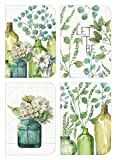 Legacy Publishing Group Greenery Bottles Blank Note Card Set, 3.5 x 5'' (DAN46595)