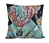 Allen Designs Flight Of The Animals Hot Air Balloon Throw Pillow 17 Inch