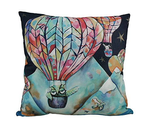 Allen Designs Flight Of The Animals Hot Air Balloon Throw Pillow 17 Inch by Allen Designs