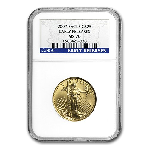 (2007 1/2 oz Gold American Eagle MS-70 NGC (Early Releases) (1/2) MS-70 NGC )