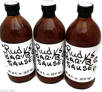 Rudy's Bar-B-Q Sause 18oz Bottle (Pack of 3) (Original)