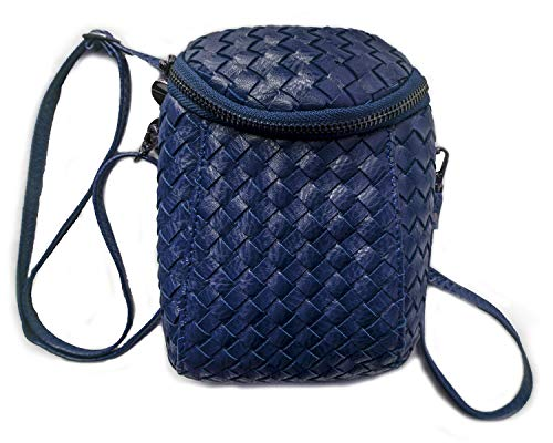 (Cross-body Bags for Women Woven PU Leather Handbag Designer Shoulder Bag Purse)