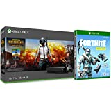 Xbox One X Battle Royale Fortnite and PUBG Collection: PLAYERUNKNOWN'S BATTLEGROUNDS, Fortnite Deep Freeze, 1000 V-Bucks, Frostbite Skin, Xbox One X 1TB 4K HDR Gaming Console