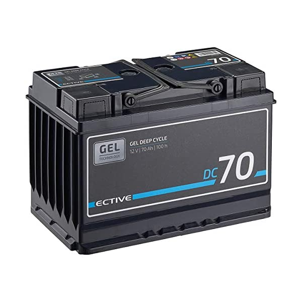 515ic3AdcdL ECTIVE 70Ah 12V Gel Versorgungsbatterie DC 70 Gel Deep Cycle Solar-Batterie VRLA Zyklenfest in 2 Varianten (wartungsfrei…