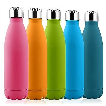 Botella de agua de acero inoxidable Botella, solocil 500 ml de vacío aislado botella Pintura