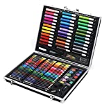 Liweibao Watercolor Pencils Set 150 Art Sets with Watercolor Paintings, Including A Free Reusable Plastic Suitcase. Multi Colored Art Drawing Pencils in Bright Assort (Color : Black)