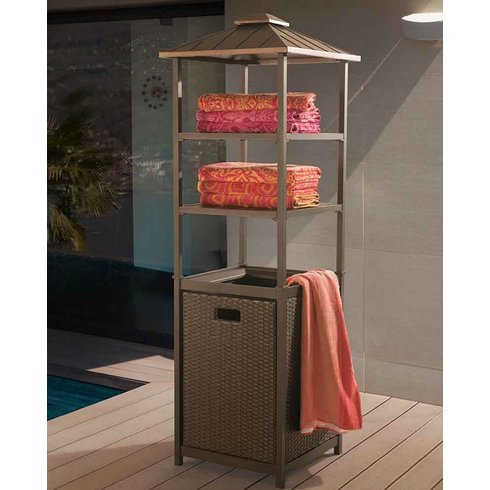 Donnelly Towel Valet For Pool Towel Storage And Much More