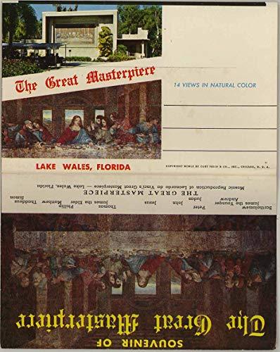 Great Masterpiece Mosaic - Lake Wales Florida - 1960 Curt Teich Souvenir Postcard Folder - #D13008