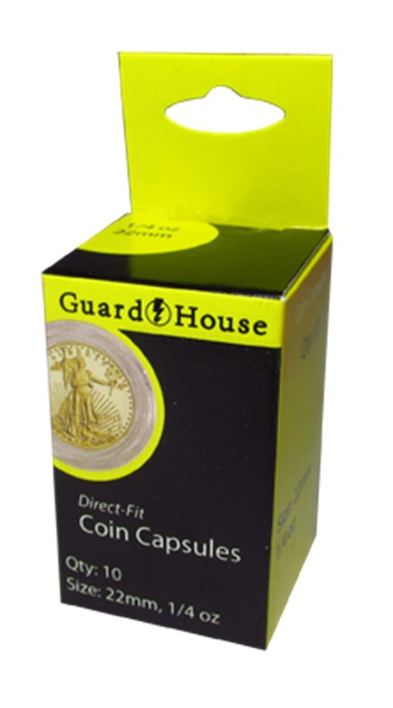 Direct Fit Holder 22mm Capsule for 1//4 oz American Gold Platinum Eagles by Guardhouse 50 Pack