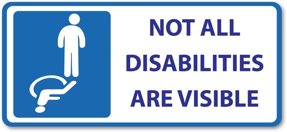 2 x 10cm Pink Disabilities Vinyl Stickers 10cm Wide Disabled Sticker Car Laptop #18145