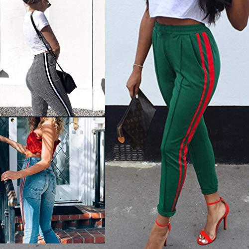 Plaid Skinny Comodi Pantaloni Pantaloni Donna Matita Casuale Pantaloni Vita Media Larghi Pantaloni A Stretti Jeans Piedi Denim a Moda xvFwU4HWq