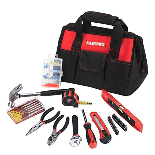 FASTPRO 36-Piece Basic Home Tool Set with 12-inch Tool (Tool Bag Set)
