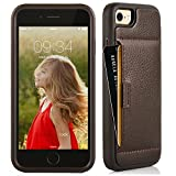 iphone 8 wallet case , iphone 7 / 8 Case , ZVE Apple iphone 7 / 8 Case with Card Holder Case Leather Wallet Shockproof Credit Card Slot Holder Carrying Case Cover for Apple 7 / 8 - Dark Brown