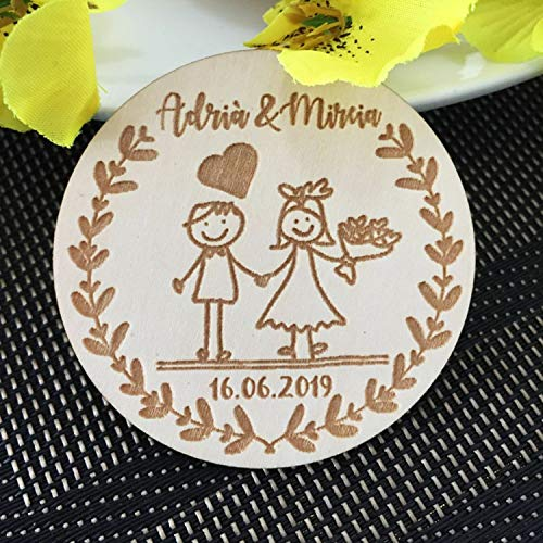 OUOK 2019 New Customized Wedding Wood Favors, Save