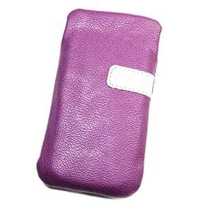 Funda Pochette de piel sintética color morado L para Samsung DuosTV I6712