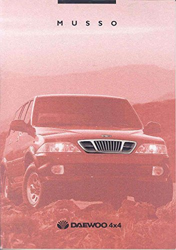 1999 Daewoo Musso 4x4 SUV Brochure French