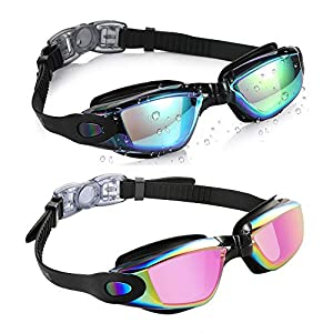 Well-Being-Matters 515ieSx1ENL._SS300_ Aegend Swim Goggles, 2 Pack Swimming Goggles No Leaking Adult Men Women