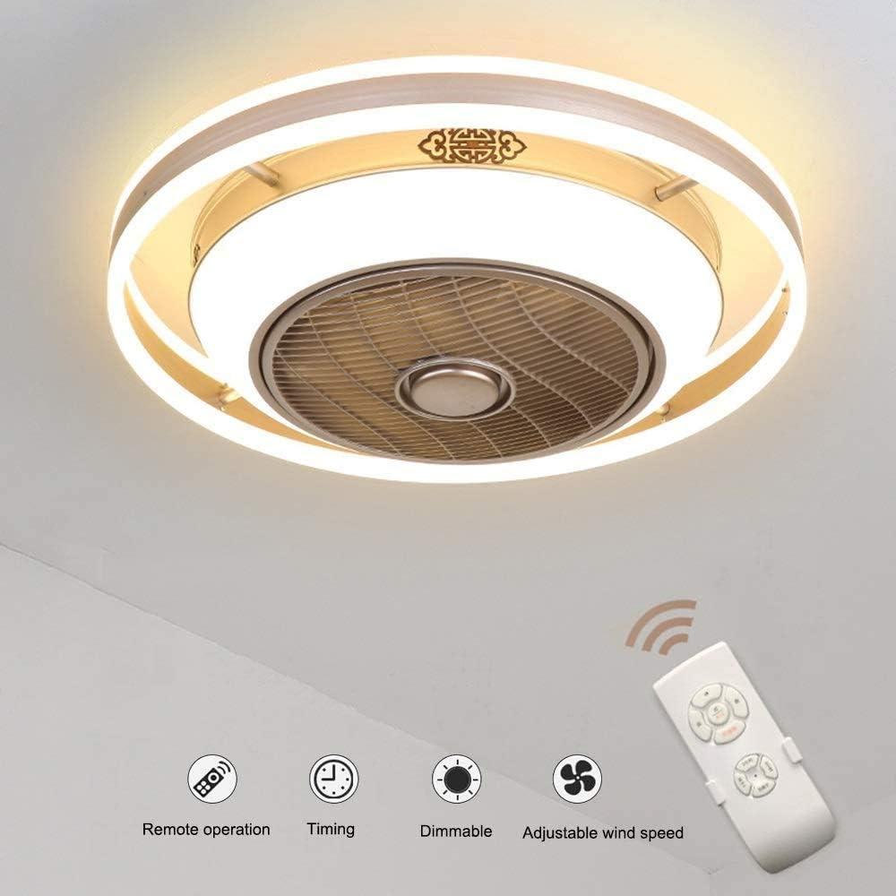 J.DM Los Ventiladores de Techo con iluminación Sigilo Original de controlar el Amortiguador alejado LED Ventilador de Techo Ultra silencioso Ventilador de Techo Que Viven Sala de la,A