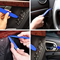 AiTrip 13 Pcs Auto Trim Removal Tool Set with Fastener Removers Strong Nylon Door Panel Tool Kit Blue