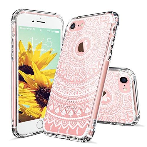 3 opinioni per MOSNOVO Cover iPhone 7, Cover iPhone 7 Trasparente con Disegni Bianco Henna