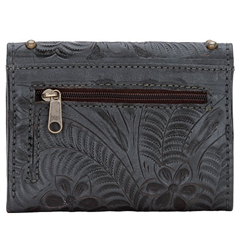 d059af2b275 American West Leather Studded Wallet Men s or Ladies Try Fold w Change  Pocket Made to last