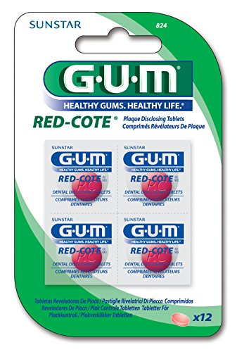 GUM Red Cote Plaque Revealer 12tablets