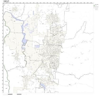 Amazon.com: Logan, UT ZIP Code Map Laminated: Home & Kitchen on