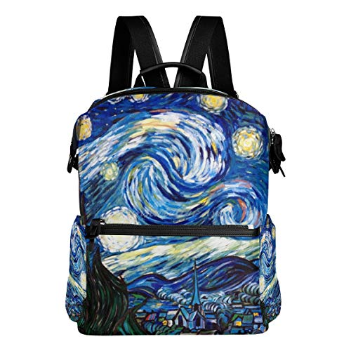 Backpack The Starry Night Womens Laptop Backpacks Hiking Bag Travel Daypack