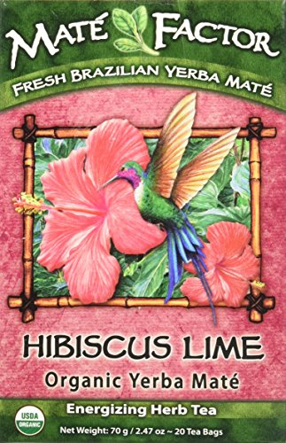 Mate Factor Organic Yerba Mate Hibiscus Lime(formerly Tropical Lime Yerba Mate) 20 Bag(S)