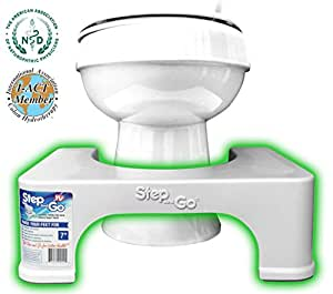 """Step and Go 7"""" Toilet Step - Proper Toilet Posture for a More Comfortable and Healthier Results"""