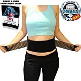 Premium Back Braces For Lower Back Pain Relief | Stabilizing Support Belt with Dual Adjustable Straps and Breathable Mesh Panels By Vigor Laser + Bonus e-Book | Size XL for Men-Women