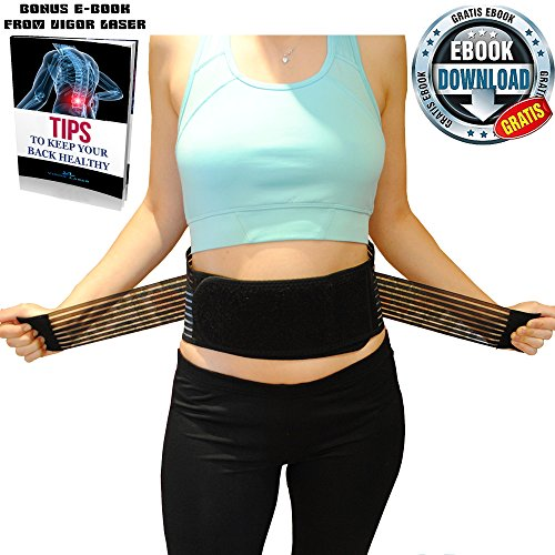 Replacement Mesh Panel (Premium Back Braces For Lower Back Pain Relief | Stabilizing Support Belt with Dual Adjustable Straps and Breathable Mesh Panels By Vigor Laser + Bonus e-Book | Size XL for Men-Women)